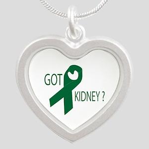 Got Kidney Silver Heart Necklace