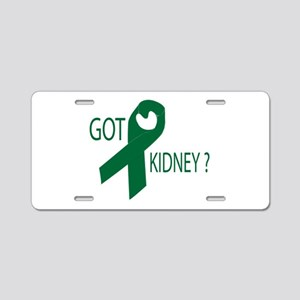 Got Kidney Aluminum License Plate