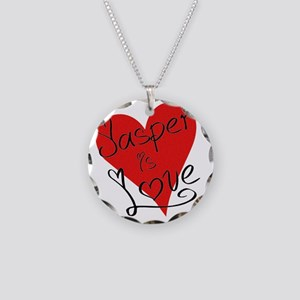 is_love_jasper Necklace Circle Charm