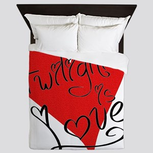 is_love_twilight Queen Duvet