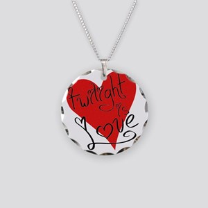 is_love_twilight Necklace Circle Charm