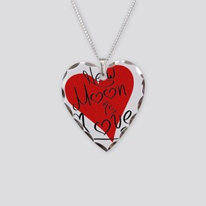 is_love_newmoon Necklace Heart Charm