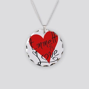 is_love_emmett Necklace Circle Charm