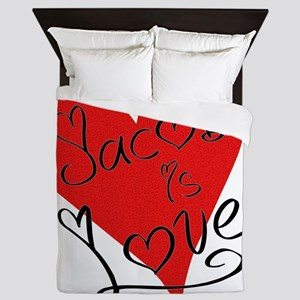 is_love_jacob Queen Duvet