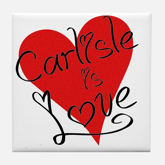 is_love_carlisle Tile Coaster