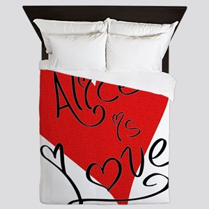is_love_alice Queen Duvet
