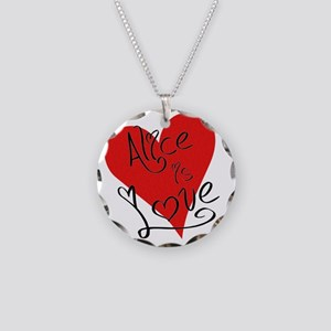 is_love_alice Necklace Circle Charm