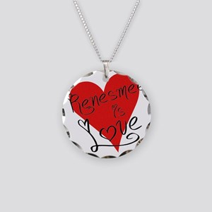 is_love_renesmee Necklace Circle Charm