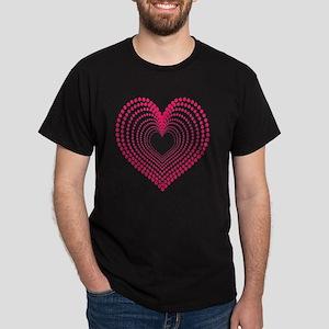 hearts 3TD Dark T-Shirt