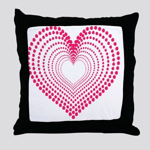 hearts 3TD Throw Pillow