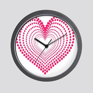 hearts 3TD Wall Clock