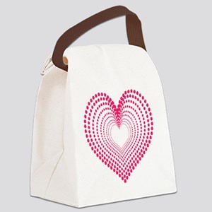 hearts 3TD Canvas Lunch Bag