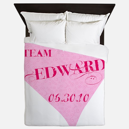 team_ed_pink_heart Queen Duvet