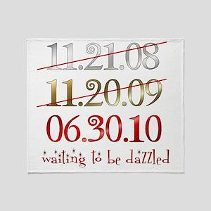 dates_dazzled Throw Blanket