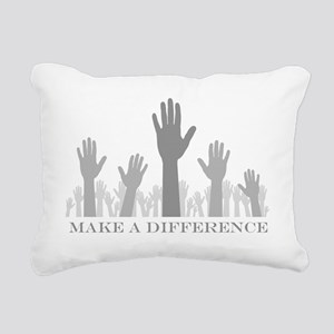volunteer make a differe Rectangular Canvas Pillow