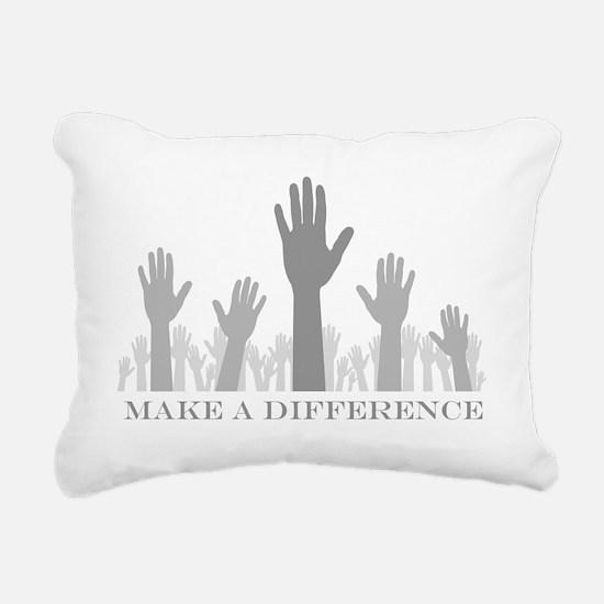 volunteer make a differe Rectangular Canvas Pillow