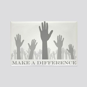 volunteer make a difference hands Rectangle Magnet