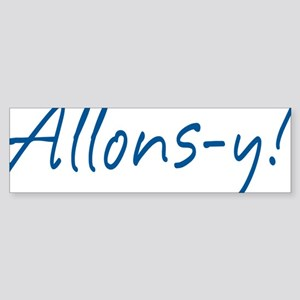 allons-y_tr Sticker (Bumper)