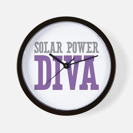 Solar Power DIVA Wall Clock