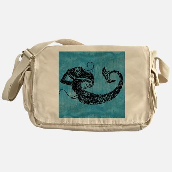 mermaid-worn_13-5x18 Messenger Bag