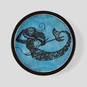 mermaid-worn_13-5x18 Wall Clock