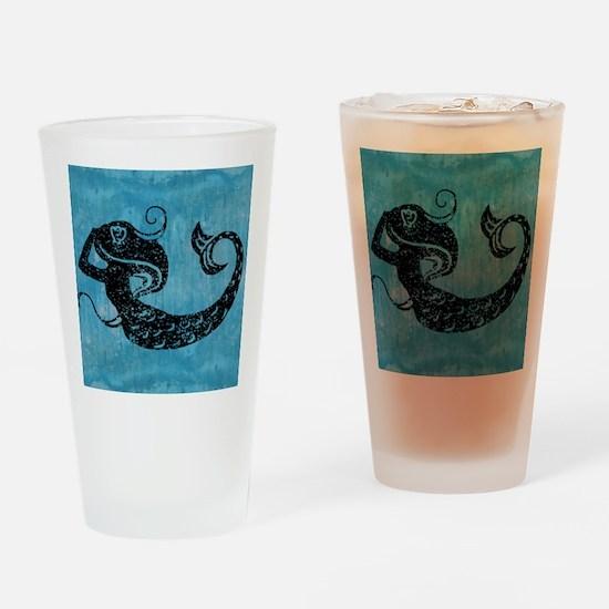 mermaid-worn_13-5x18 Drinking Glass