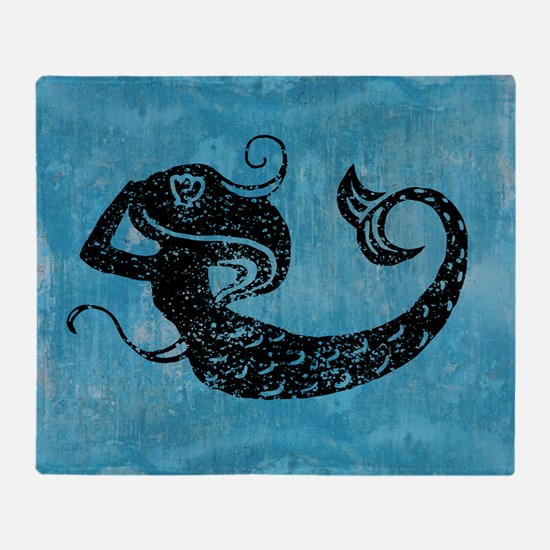mermaid-worn_13-5x18 Throw Blanket