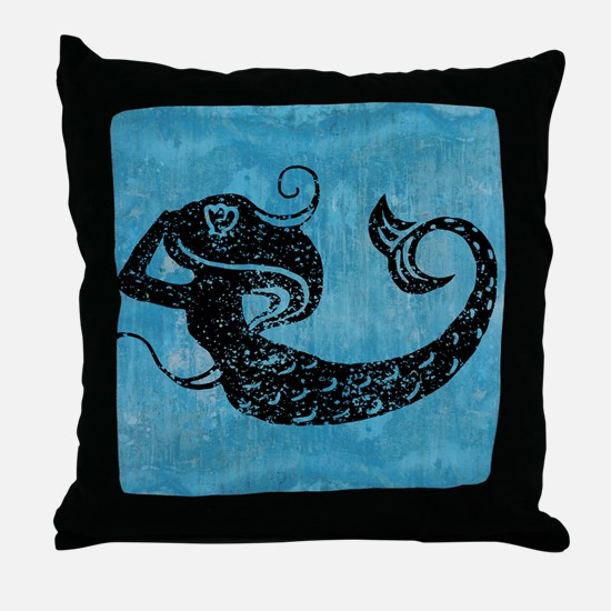 mermaid-worn_13-5x18 Throw Pillow