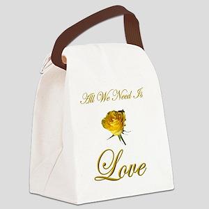 t-allweneedis_love_yellow_rose-3 Canvas Lunch Bag
