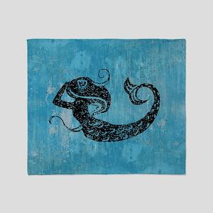 mermaid-worn_b Throw Blanket