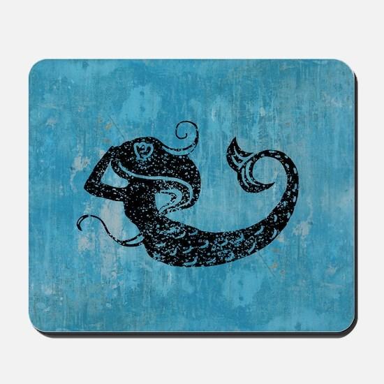 mermaid-worn_b Mousepad