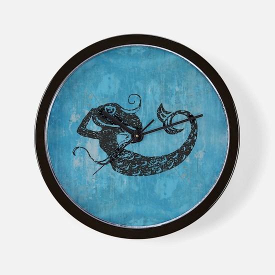 mermaid-worn_b Wall Clock