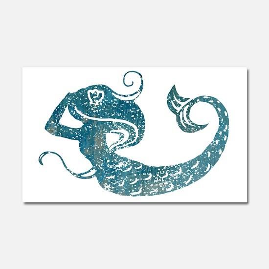 mermaid-worn_tr Car Magnet 20 x 12