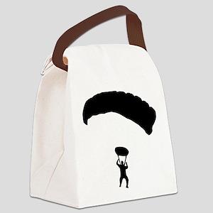 fallschirmspringer_einzeln Canvas Lunch Bag