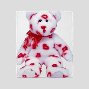 kissy-bear-lg Throw Blanket