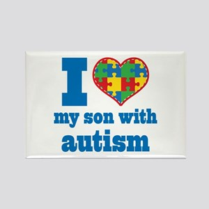 Autism - I Love My Son Rectangle Magnet