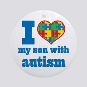 Autism - I Love My Son Ornament (Round)