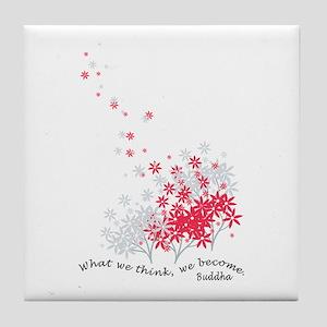 Buddha Quotes - Think Tile Coaster