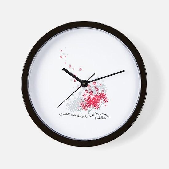 Buddha Quotes - Think Wall Clock