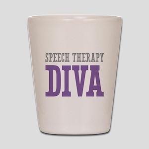 Speech Therapy DIVA Shot Glass