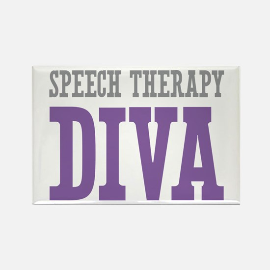 Speech Therapy DIVA Rectangle Magnet