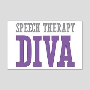 Speech Therapy DIVA Mini Poster Print