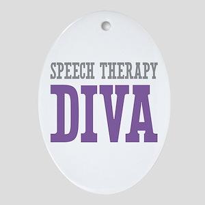 Speech Therapy DIVA Ornament (Oval)