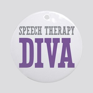 Speech Therapy DIVA Ornament (Round)
