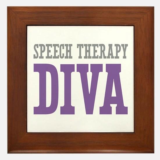Speech Therapy DIVA Framed Tile