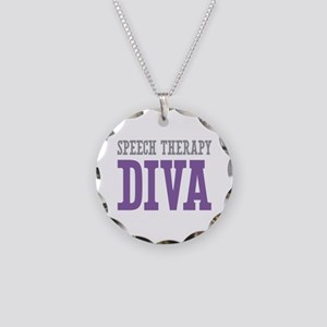 Speech Therapy DIVA Necklace Circle Charm