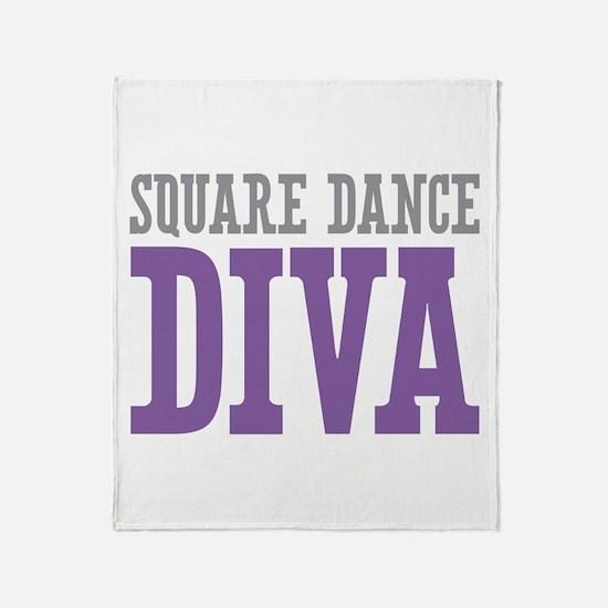 Square Dance DIVA Throw Blanket
