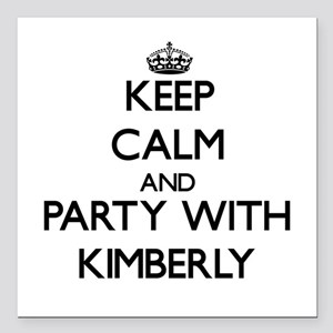 Keep Calm and Party with Kimberly Square Car Magne