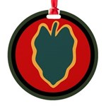 24th Infantry Round Ornament