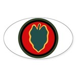 24th Infantry Sticker (Oval)